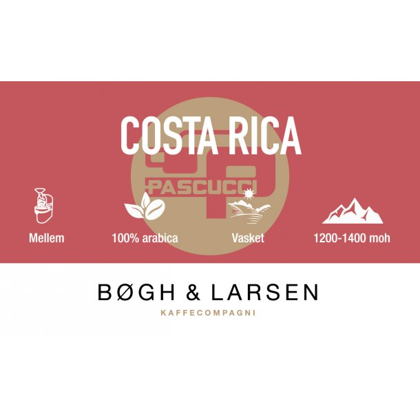 Costa Rica SHB - friskristet kaffe - 1000g