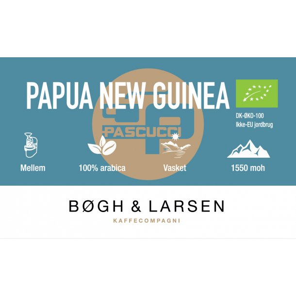 Papua New Guinea - friskristet økologisk kaffe - 1000g