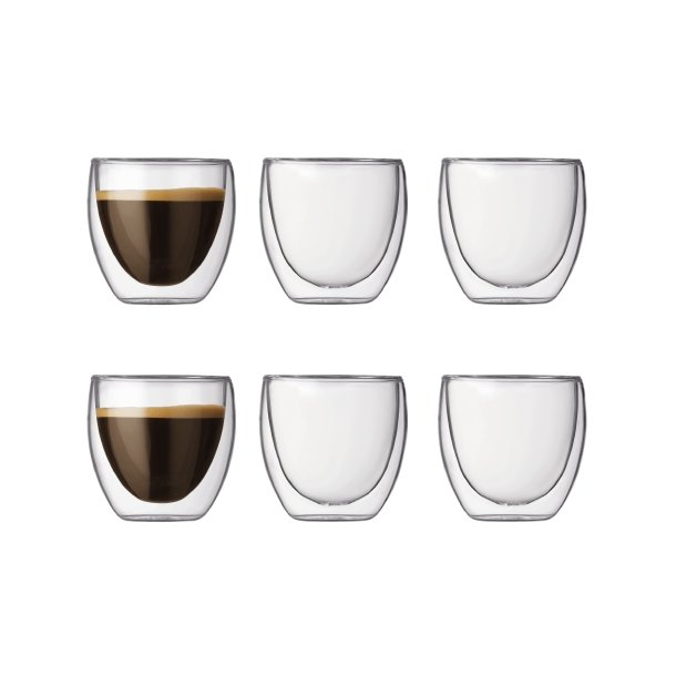 Bodum Pavina Espressoglas 8cl - 6 stk.