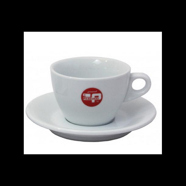 Dobbelt espressokop porcelæn med underkop - 160 ml